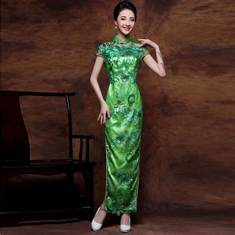 Vintage Silk Cheongsam Import Green Hasio popular green dress buy cheap green dress lots from china green dress