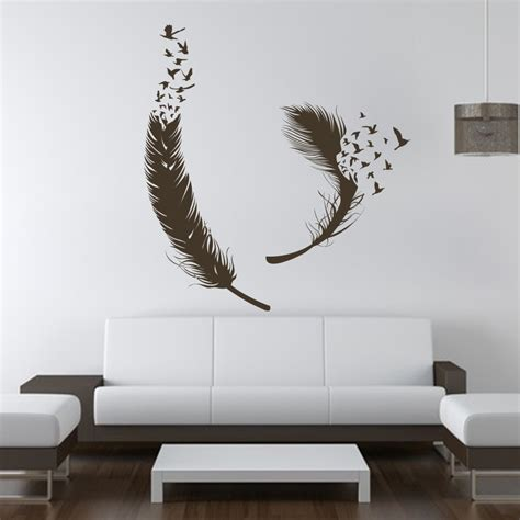 home wall decor stickers birds of feather wall decals vinyl decal housewares