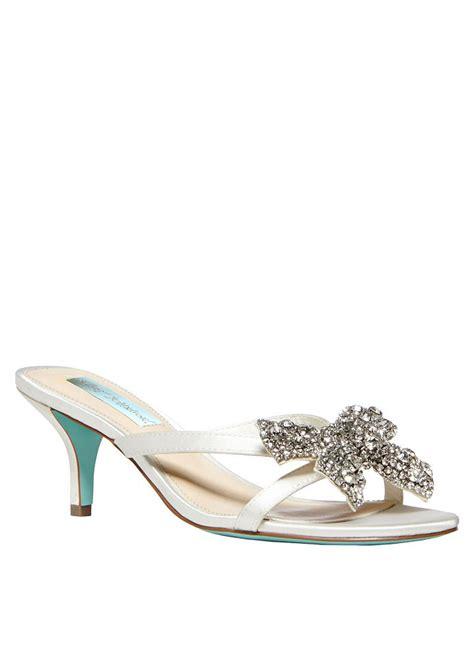 betsey johnson bridal shoes david s bridal wedding bridesmaid shoes blue by betsey
