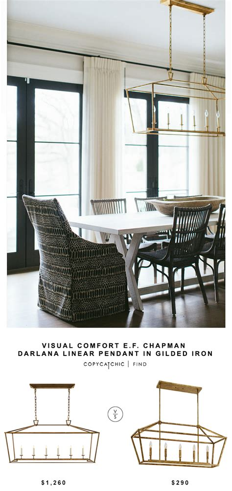 ef chapman table ls visual comfort e f chapman darlana linear pendant