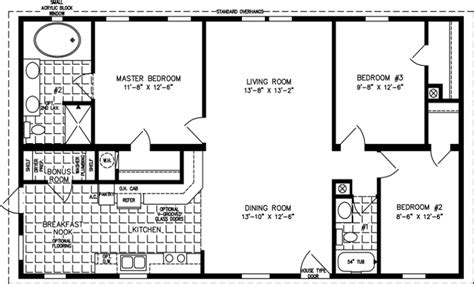 2 Bedroom 1 Bath Mobile Home Floor Plans by 1200 Square Foot Open Floor Plans 1000 Square Feet 1200