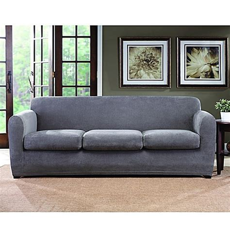 Sure Fit 3 Sofa Slipcover Buy Sure Fit 174 Ultimate Stretch Chenille 3 Cushion Sofa