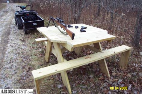 shooting bench reviews armslist for sale shooting bench picnic table combo