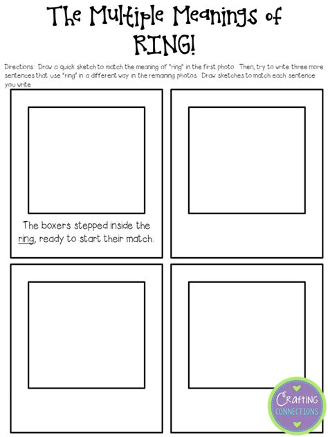 Meaning Words Worksheets 3rd Grade by Crafting Connections Meaning Words Anchor Chart
