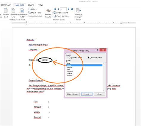 cara membuat mail merge excel ke excel cara membuat mail merge dengan ms word 2013 dan ms excel