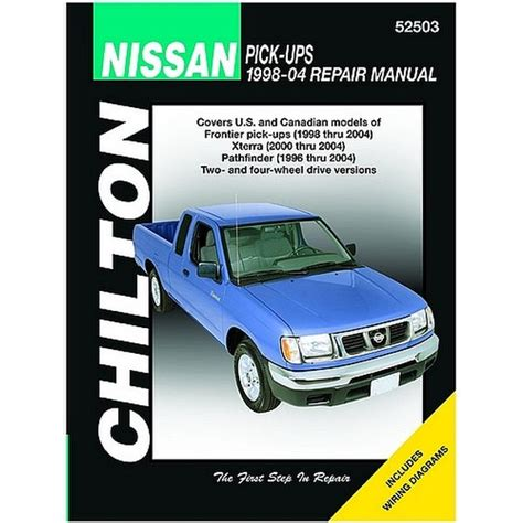 free auto repair manuals 2000 nissan pathfinder parking system chilton nissan frontier 98 04 xterra 2000 2004 pathfinder 1996 2004 repair manual northern