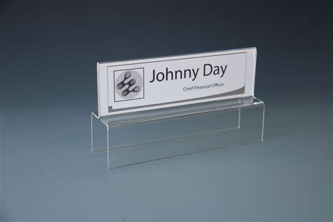 acrylic desk name plates tiered cubicle partition name plate holder sided