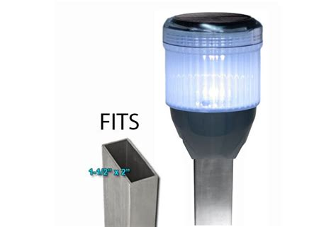 solar dock post lights solar dock post lights for pipe supported docks