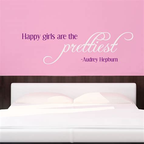 hepburn wall stickers happy are the prettiest hepburn wall decals stickers graphics