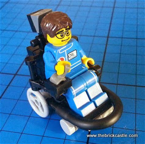 how to make a wheelchair the brick castle how to make a lego wheelchair footballer