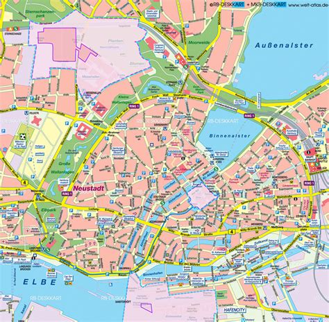 hamburg karte map of hamburg g20 zones city in germany welt atlas de