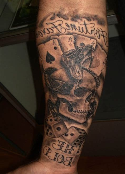 tattoo designs cards and dice cards and dice tattoos on biceps photo 2 tough