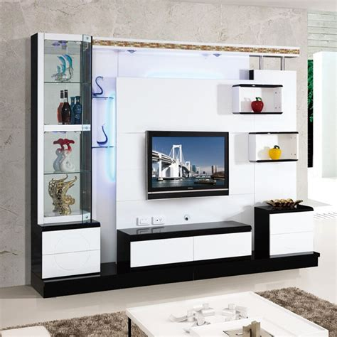 Living Room Lcd Tv Wall Units Living Room Corner Lcd Tv Stand Wooden Furniture 018