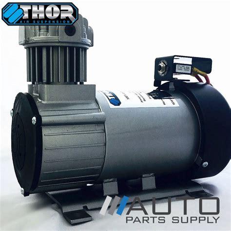 tc100 12 24v air compressor air bag load assist suspension thor