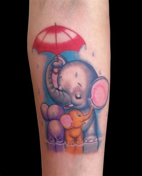elephant tattoo umbrella sheltering your babies elephant umbrella tattoo