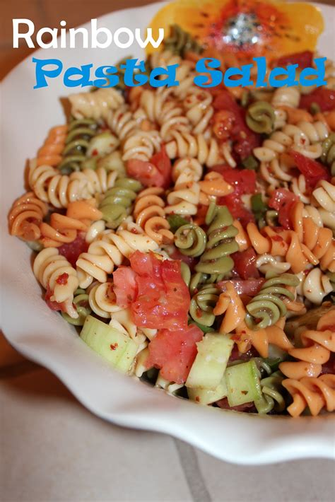 pasta salad with rotini harris girltalk rainbow pasta salad