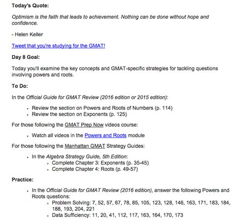 60 Day Mba by The 60 Day Gmat Study Guide Daily E Mail Gmat Plan