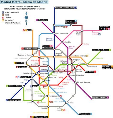 madrid metro map file madrid metro map png