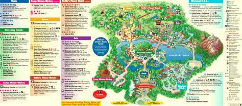 florida disney world map majestic elephant animal kingdom amusement and theme