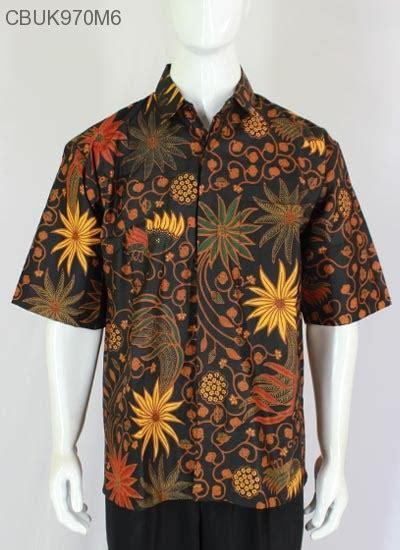Kemeja Batik Hem Baju Batik Lengan Pendek Murah Btk144 kemeja batik pendek santoso klasik kemeja lengan pendek