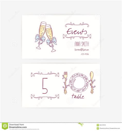 Wedding Table Setting Cards Templates by Set Of Wedding Card Templates With Table