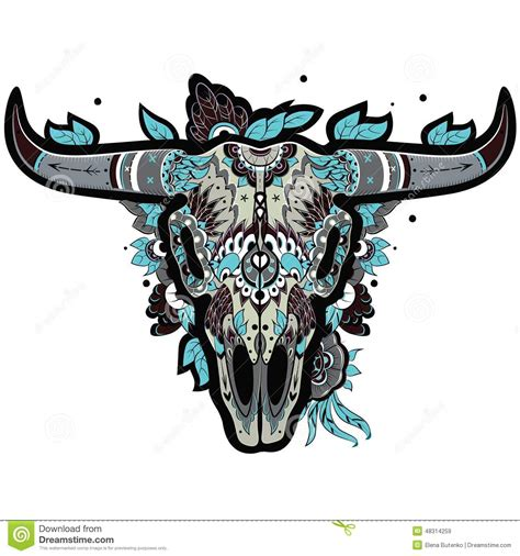 buffalo skull cool stock photo image 48314259