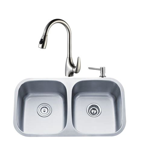 Home Depot Faucets For Kitchen Sinks by Stainless Sinks Kitchen Sinks The Home Depot