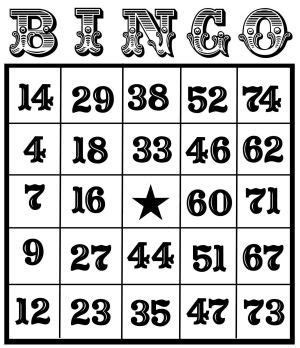bingo card template with numbers printable bingo cards printable pages
