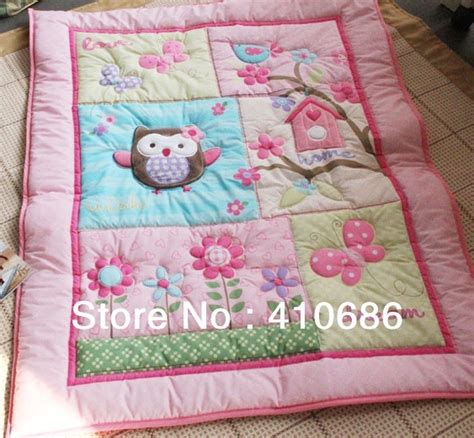 Baby Boy Cot Quilt Sets by New Appliqued Animals Flowers Baby Quilt Nursery Comforter