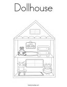 Doll House Template by Dollhouse Coloring Page Twisty Noodle