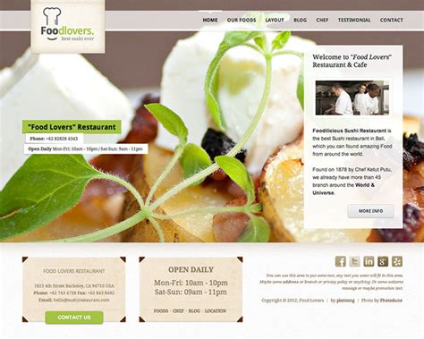 25 best html website templates for cafe bar restaurant