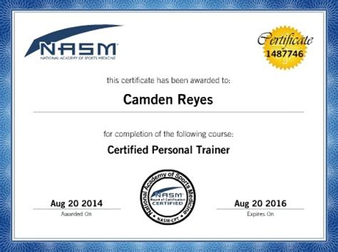 nasm section image gallery nasm certifacation