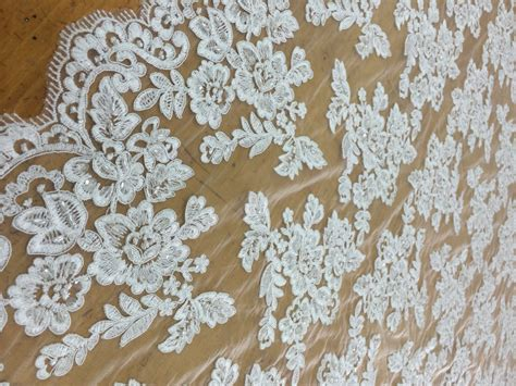 beaded fabric by the yard white beaded lace fabric by the yard lace alencon