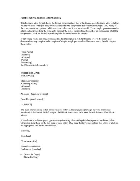 Business Letter Format For Cc Business Letter Format With Cc And Enclosures Resume Pics