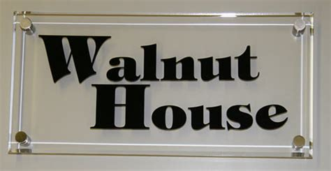 glass like clear acrylic house signs home name plates