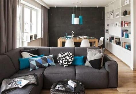 sala color turquesa gris deco salones sala gris