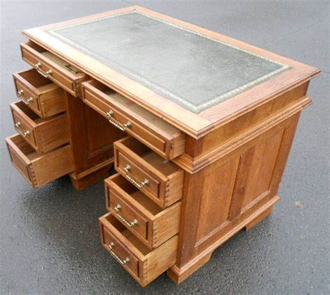 small oak writing desk small oak kneehole writing desk