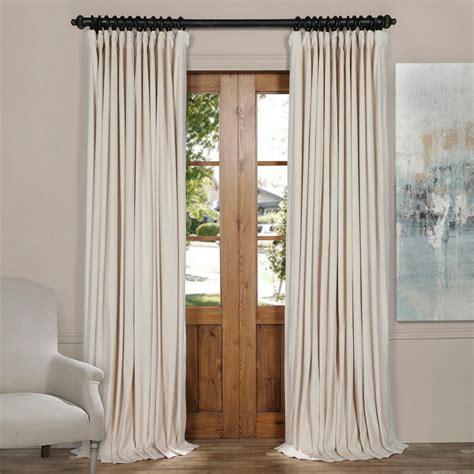 ivory velvet curtains exclusive fabrics furnishings signature ivory doublewide