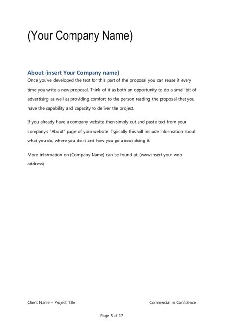 Consultancy Briefformat business template for consulting program