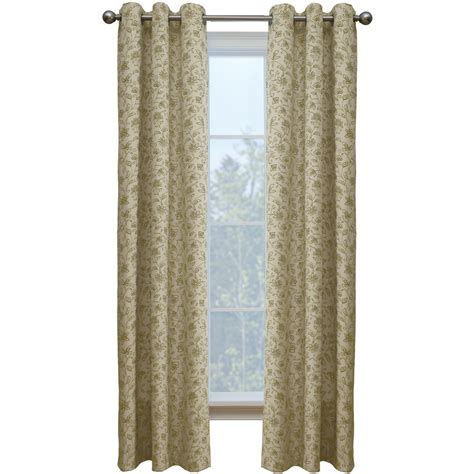 cotton panel curtains shop style selections juliette 84 in sand cotton grommet