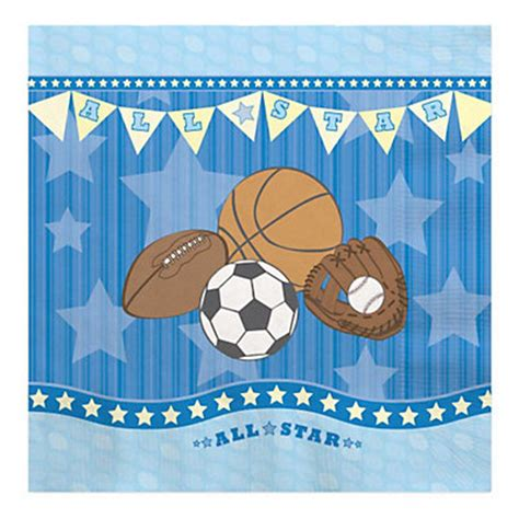 Sports Baby Shower by All Sports Baby Shower Luncheon Napkins 16 Ct