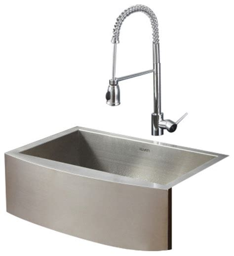 contemporary kitchen faucets stainless steel ruvati rvc2426 stainless steel kitchen sink and chrome