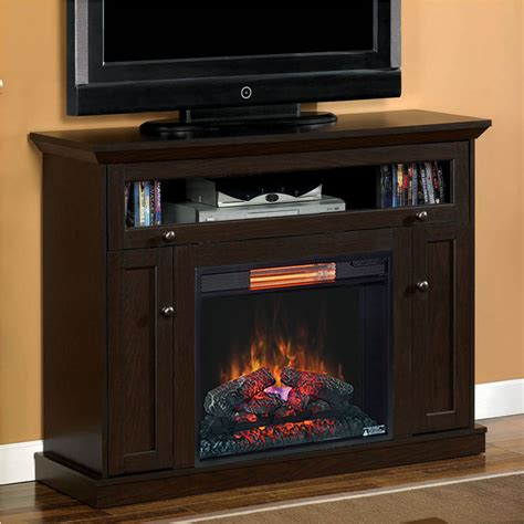 Infrared Electric Fireplace Wall Or Corner Infrared Electric Fireplace Media Cabinet In Oak Espresso 23de9047 Pe91