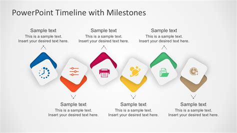 business timeline for monthly growth flat powerpoint