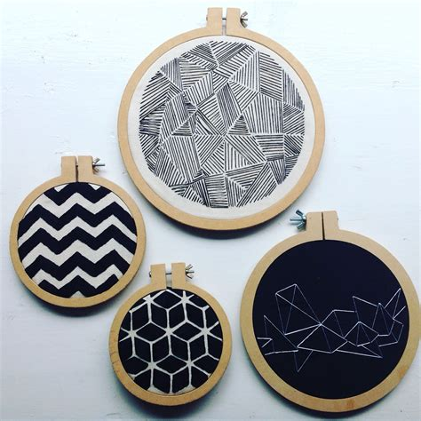 embroidery geometric 8 geometric embroidery pack embroidery hoop hoop