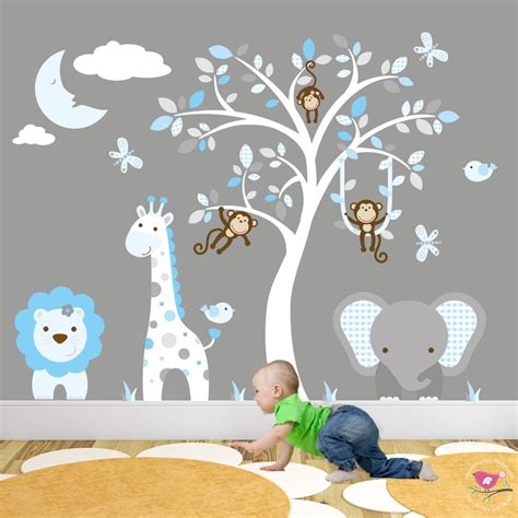 jungle nursery wall stickers jungle animal nursery wall stickers