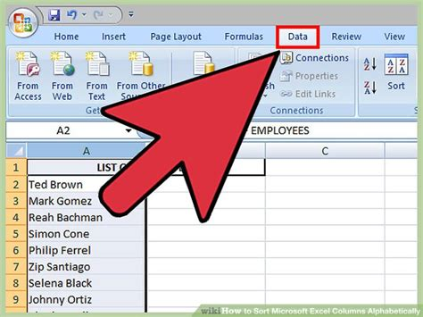 Format Excel Alphabetical Order | how to sort microsoft excel columns alphabetically 11 steps