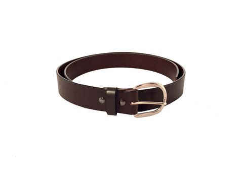 brown belt with stainless steel buckle curtis