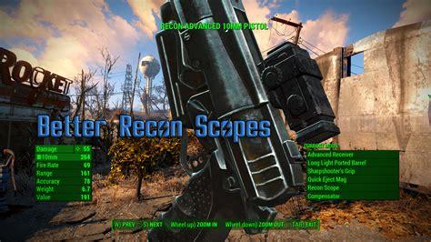 fallout 4 recon scope better recon scope retexture fallout 4 fo4 mods