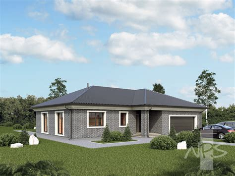 house projects quot meida quot single storey house project with two place garage